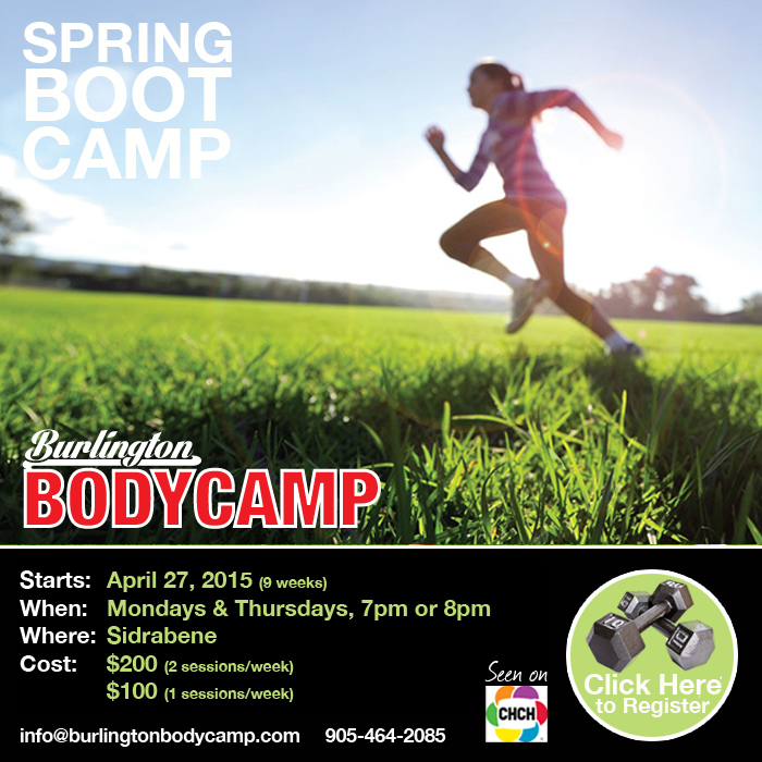 Burlington Spring Boot Camp starts April 27