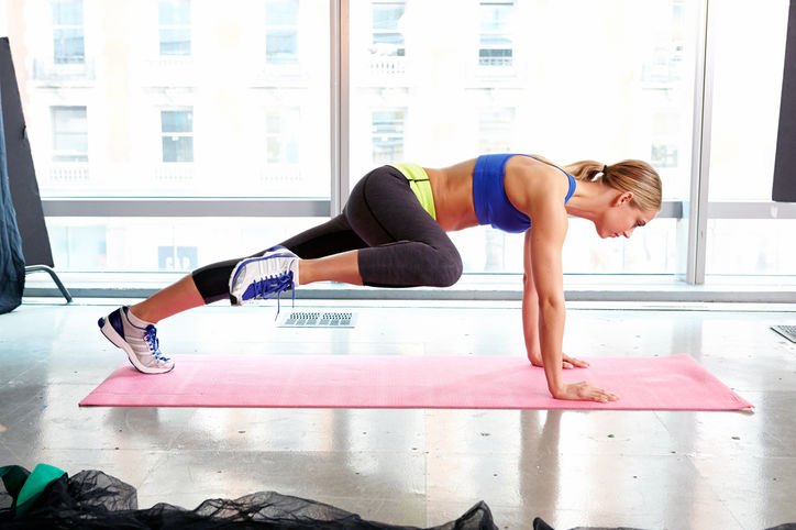 Spider Plank exercise with In Home Personal Training