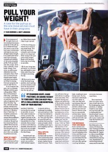 Pull Your Weight, Inside Fitness Article, October 2016