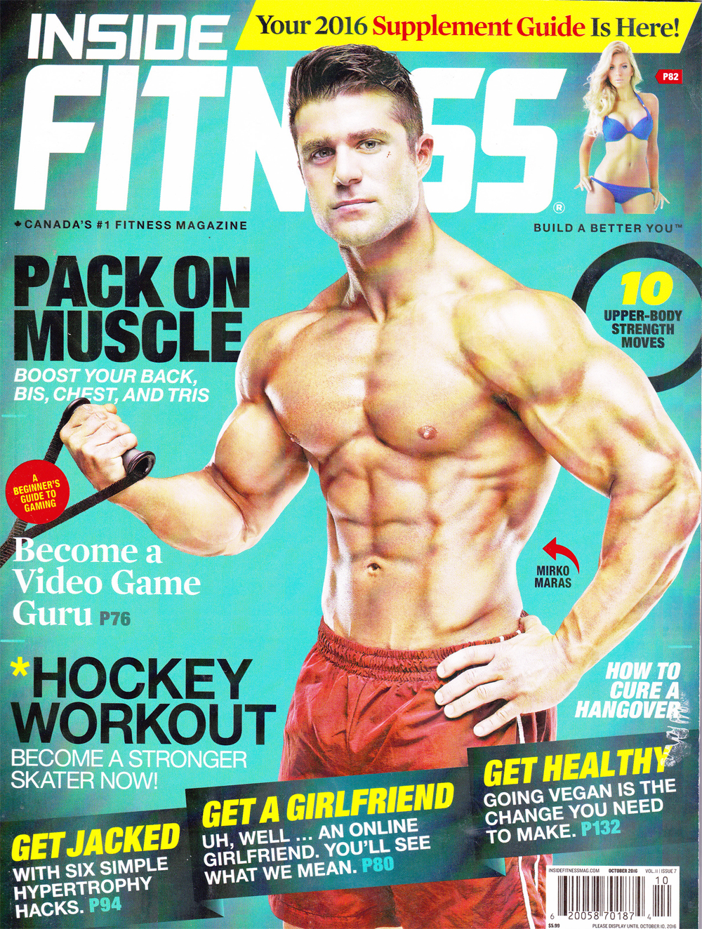Inside Fitness Cover, October 2016