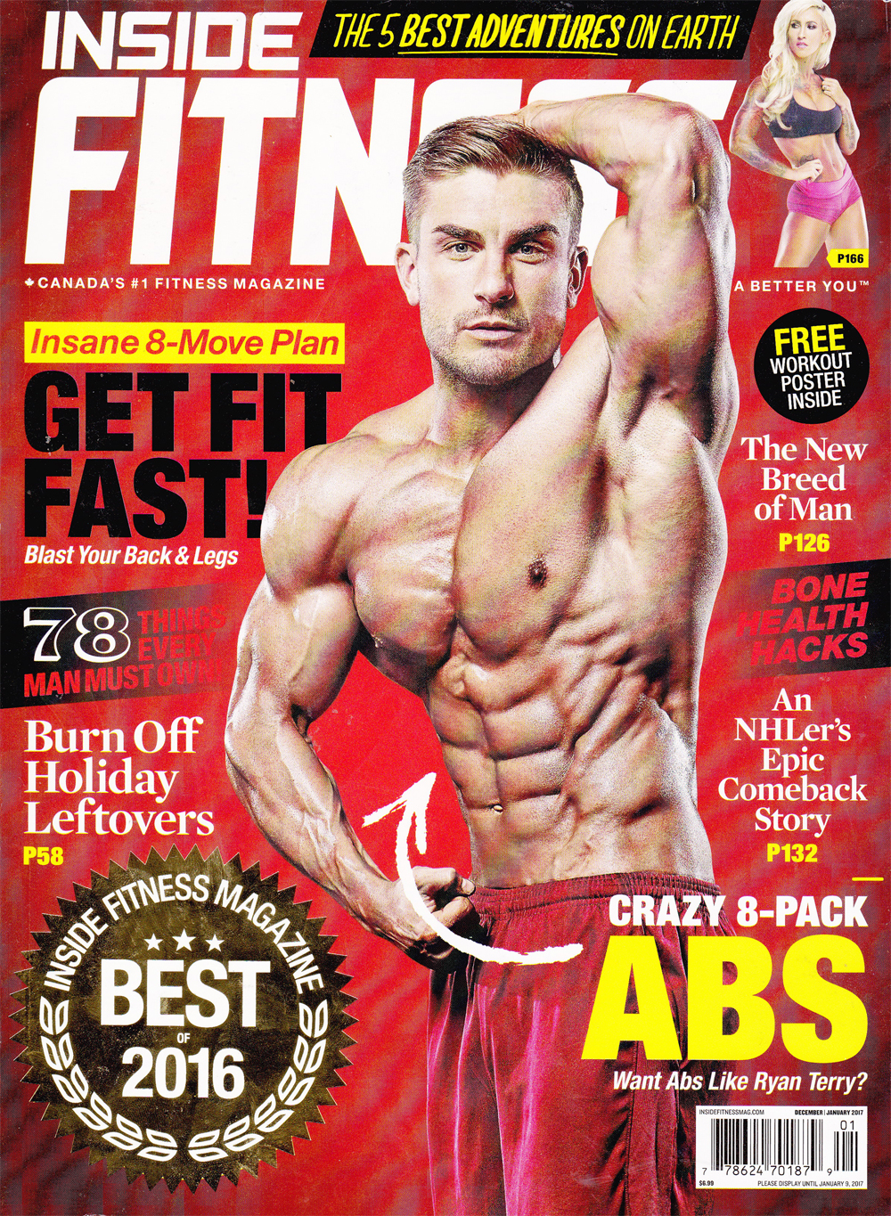 Inside Fitness Magazine December/January 2017 Cover