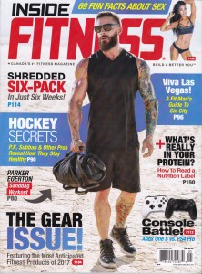 Matt Johnson Inside Fitness magazine cover April May 2017