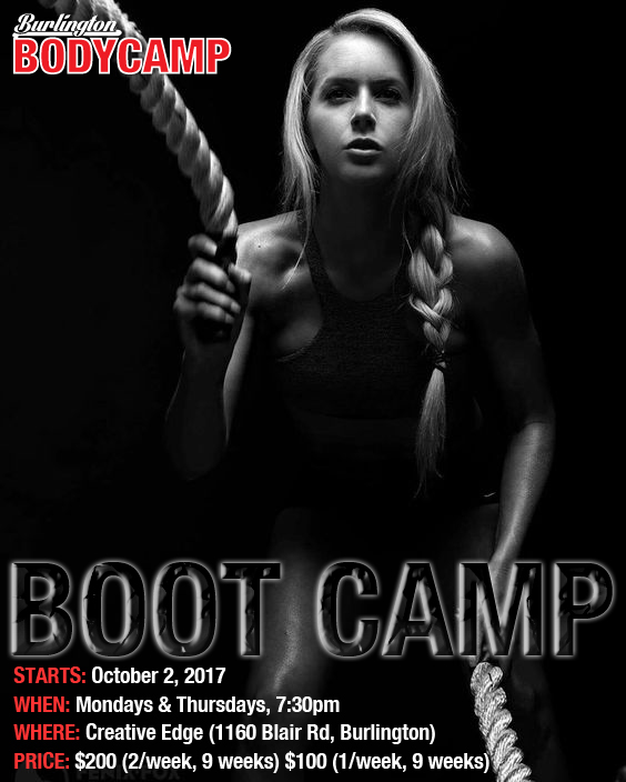 Boot Camp Starts October 2nd 2017, Burlington, Ontario