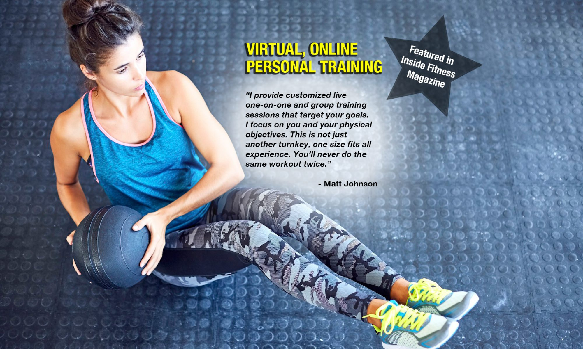 At-Home and Online - Virtual Personal Training ZOOM & SKYPE FITNESS